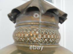 HEAVY BRASS Antique Standard LAMP LANTERN VICTORIAN Oil Street Light Style 183cm