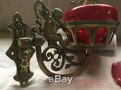 Heavy Brass Gypsy Angel Oil Lamp Vardo Caravan Traveller Showman