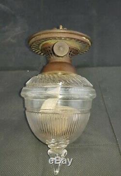 Hinks & sons Victorian Crystal Cut Fairy Oil Lamp
