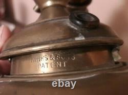 Huge 6ft HINKs Antique Oil Lamp standard Brass Telescopic Torchere Light Base