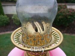 IRISH HOME RULE OIL LAMP. (Harp & Shamrocks)
