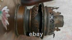 Large Tall Antique French Spelta Lady Oil Lamp By Rousseau