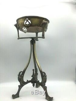 Large victorian art nouveau Benson metal oil lamp base