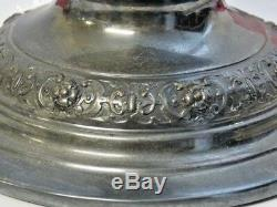 Lion Lamp Works by Prince and Symmons London 1860's Antique Kerosene Oil Lamp
