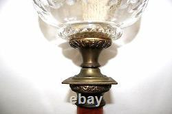 Original Antique Victorian Marble Column Oil Lamp