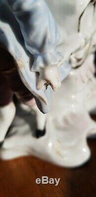 Original Victorian German Bone China Ceramic Oil Lamp Nursery Bijou Burner