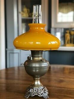 P & A Royal Kerosene Oil Student Stand Lamp Center Draft