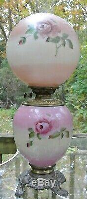 P&A Victorian GWTW Banquet Oil Kerosene Lamp Converted to Electric