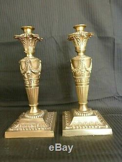 Pair Of Fabulous Victorian Cast Bronze Oil Lamp Bases With Reg Design Number