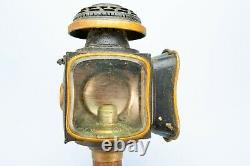 Pair of Antique Horse Carriage Lights 2 Victorian 19C Lamps English Oil Candles