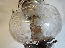 Quality Walker & Hall silver plated oil lamp with Hinks duplex burner