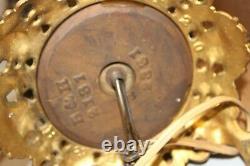 RARE Bradley & Hubbard Banquet Brass Lamp Oil Kerosene B & H Antique 2181