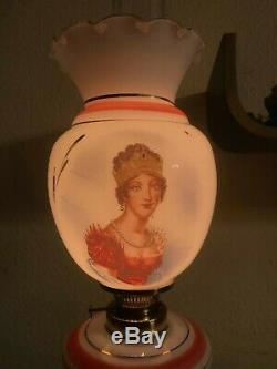 RARE! French Antique Napoleon Oil Kerosene Victorian Lamp Glass