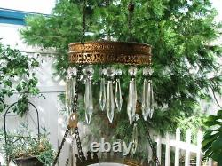 RARE Robins Egg Blue Hanging Parlor Lamp, Library, Oil, GWTW, Antique, 1887