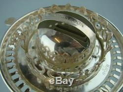 RARE VICTORIAN SILVER PLATED HINKS No 2 DUPLEX OIL LAMP BURNER, WITH DROPPER
