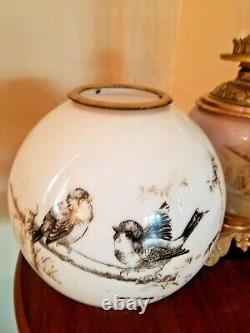 Rare 1880's Wallace & Sons, Conn. Gone with The Wind Parlor Oil Lamp