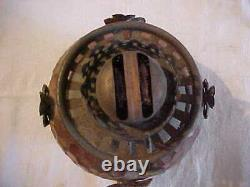 Rare AESTHETIC Bradley Hubbard Thackara Gorham Red Brass Kerosene Oil Table Lamp