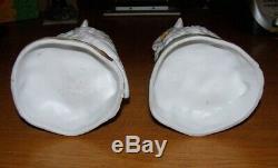 Rare Pair Victorian OWL Oil Lamp Bases Ernst Bohne & Sohne Rudolstadt Germany