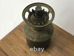 Rare Small Antique Bradley & Hubbard Kerosene Oil Lamp Font B&H 2 7/8 Dia 5.5T