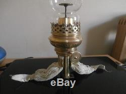 Rare Sought After Wild& Wessel18'' Globe Vulcan Oil Lamp Wick & Burner & Chimney