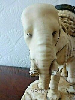 Rare Victorian Alfred Stelmacher Elephant Duplex Oil Lamp