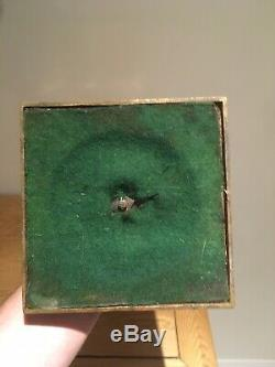 Rare Victorian Heavy Green Glass Oil Lamp Base