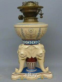 Rare Victorian Wedgwood Figural Elephant Oil Lamp
