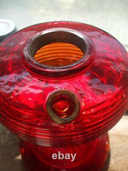 Red Aladdin beehive lamp with model B burner