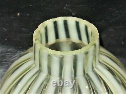 S 512 Victorian Vaseline Art Glass Miniature Oil Lamp Clear & crisp Mint