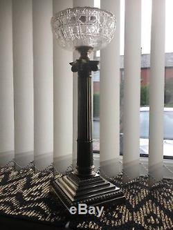 Silver Plated Corinthian Oil Lamp Font/base