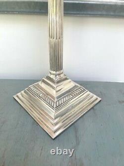 Silver plate oil lamp base