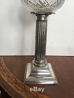 Small Antique Victorian Silver Plated Oil Lamp