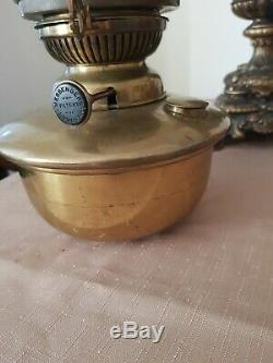 Solid Brass Messengers Annular Oil Lamp