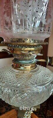Stunning Hinks Oil Lamp 90cm tall