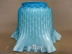 Stunning & Rare Blue Airtrap Mop Duplex Oil Lamp Thomas Webb