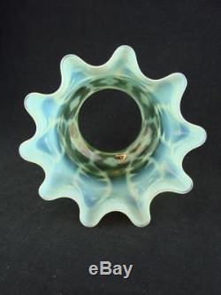 Stunning Walsh / Powell Vaseline Glass, Duplex, Tulip Oil Lamp Shade 4 Fitter
