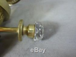 Superb Antique Victorian Rare Cut Glass Winder Hinks Duplex Oil Lamp Burner