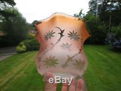 Superb Original Antique Duplex Tulip Oil Lamp Shade