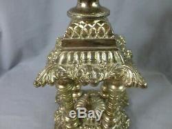 Superb Original Victorian Antique Veritas 1895 Oil Lamp Base