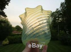 Superb Pair Of Antique Vaseline Glass Duplex Oil Lamp Shades Was Benson Suit
