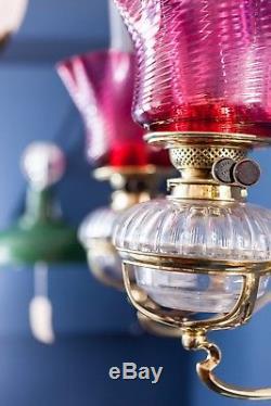 Superb Pair of Art Nouveau Oil Lamps