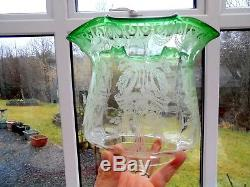 Superb Quality Emerald Green Victorian Oil Lamp Shade