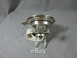 Superb Silver Plated Antique Victorian Brass Hinks Duplex Oil Lamp Burner