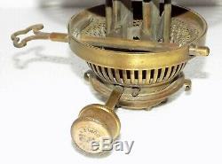 Superb Victorian Hinks No. 2 Duplex Kerosene oil lamp Burner Brass cleaned #C-444