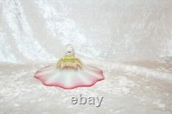 TS Victorian Rubina Verde Vaseline Cranberry Oil Lamp Smoke Bell Cover