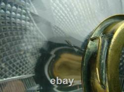 VICTORIAN HEAVY FACET CUT CRYSTAL OIL LAMP FONT BAYONET FIT, 23mm UNDERMOUNT