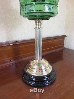 Victorian Veritas Duplex Oil Lamp Complete With Original