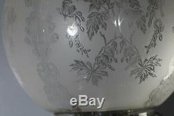 Very large Antique oil Lamp Silver plated Corinthian base