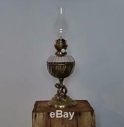 Victorian Antique Hinks & Son Oil LampDrop in Glass ReservoirPatent No. 2650