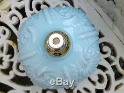 Victorian Blue Glass Oil Lamp Font